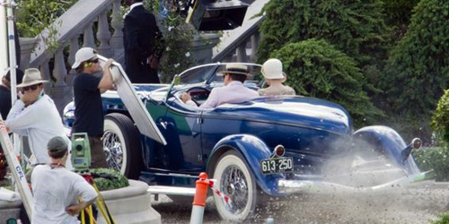 On set of the The Great Gatsby